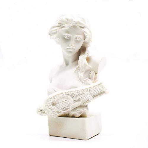 Resin Bust Statue Picaru 2.95 Inch Plaster Figurines Mini Home Decoration Sculpture White for Art Hobbyist-Artemis