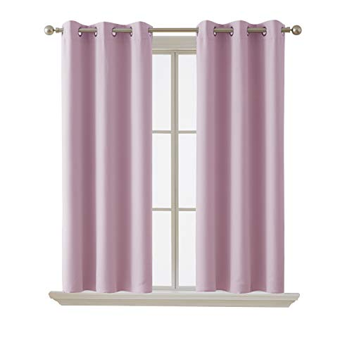 Deconovo Blackout Curtain Room Darkening Thermal Insulated Curtains Grommet Window Curtain for Bedroom Lavender 38 x 54 Inch 2 Panels