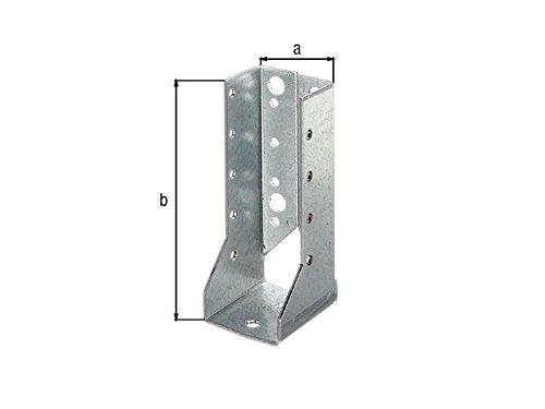 80 x 120mm Holzverbinder innenliegend Balkenschuh innen mit ETA Zulassung - verzinkt