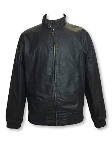 Barbour Royston Lightweight Wax Jacket in Black L