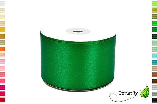 Creativery 25m Rolle Satinband 50mm (grün 580) // Schleifenband Deko Band Geschenkband Dekoration Hochzeit Taufe Geburtstag Dekoband einseitig 5cm