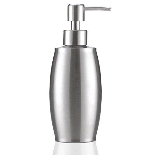 flintronic Dispensador de Jabón 350ml, Fregadero de Cocina Dispensador, Espacio Dosificador Jabon Cocina de Acero Inoxidable Botella