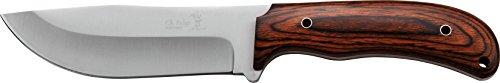 Elk Ridge Couteau d'extérieur Hunter Brown Manche en Bois Pakka, Longueur Totale cm : 26,67, elkr de 1207