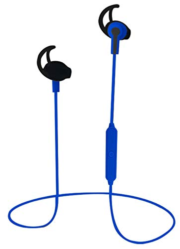 NAXA Electronics NE-973 Performance Bluetooth Wireless Sport Earphones with Built-in Li-Ion Battery, Blue