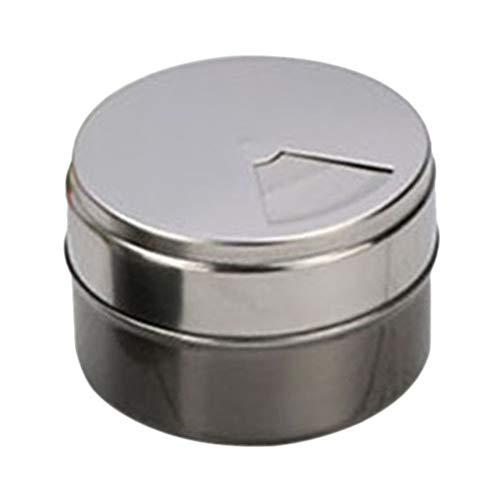Bestonzon, portaspezie magnetico in acciaio inox, per campeggio, condimenti e condimenti (grigio)