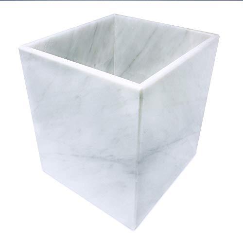 LUHOM LUJOSO HOGAR MEXICO Papelera de Mármol   Papelera Cuadrada   Cubo de Basura   Cubo de Reciclaje   Bote de Basura en Blanco Bego