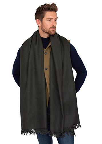 likemary Bufanda para hombre, de lana de merino, de gran tamaño, silenciador y manta de viaje, 100 x 200 cm