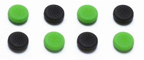 snakebyte Xbox One CONTROL:CAPS (4x schwarz & 4x grün) - 8er Pack - Analogstick Aufsätze