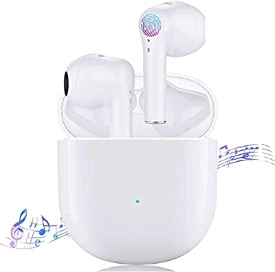 Wireless Earbuds Bluetooth 5.0 Ear buds, 3D Stereo Headphones with 24 Hours Charging Case Built-in Mic Case Pop-Up Auto Pairing IPX5 Waterproof In-Ear Earphones for iPhone/Apple Airpods/Android by X-L