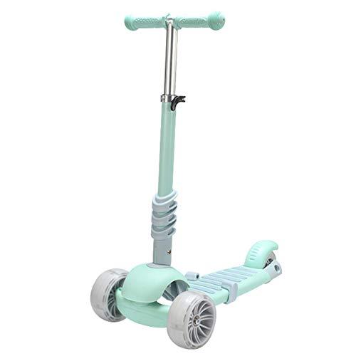 WFSH Scooter Infantil, Scooter Ajustable en Altura 3 en 1 con Asiento Plegable, Scooter de luz para niños de 3 años, Gran Juguete al Aire Libre para niños de 3 a 8 años