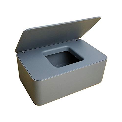 Max-Tonsen Soporte para dispensador de toallitas húmedas con Tapa para Tienda de Oficina en casa, Caja de Almacenamiento a Prueba de Polvo, Gris