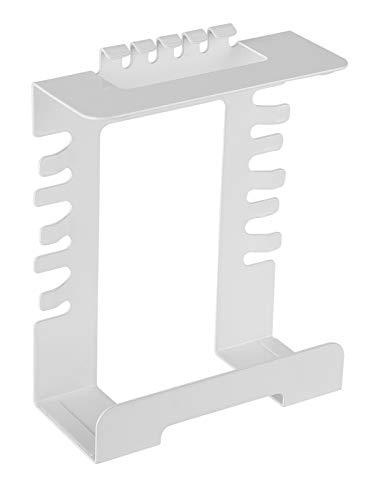VALUE Unter-Tischhalterung für Steckdosenleiste | weiß | Halterung für Steckdosenleisten zur Montage unter dem Tisch