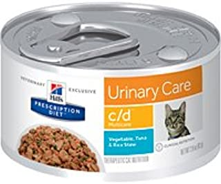 Hill's Prescription Diet c/d Multicare Urinary Care Vegetable, Tuna & Rice Stew Canned Cat Food 24/2.9 oz