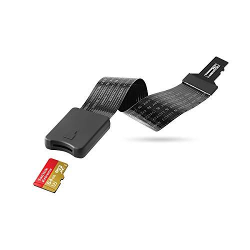 AEIVE Adaptador de cable de extensión de tarjeta micro SD a Micro SD, lector de tarjetas de memoria TF para impresora SanDisk MicroSDHC/Monoprice Mini 3D/Anet A8 3D, impresora/Raspberry Pi/GPS