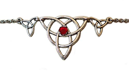 Moon Maiden Jewelry Celtic Triple Triquetra Trinity Headpiece Ruby Red