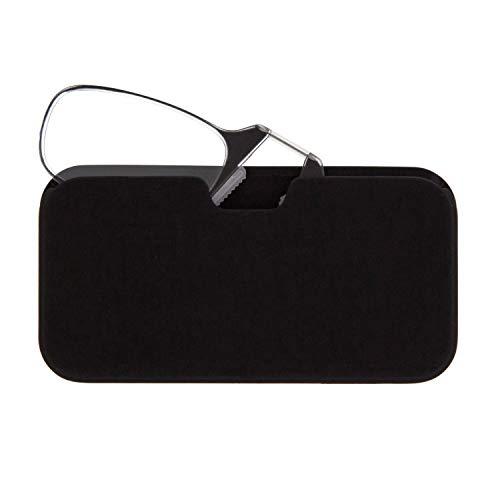DIDINSKY Lesebrille für Damen und Herren Transparent. Kompakte leichte randlose brillen. Brillengestelle für damen und herren irormphiblen. Lesehilfe Retro. Black +1.5 - MOMA