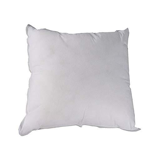 Vencede Cojín cuadrado con relleno de almohada para sofá cama, 45,72 x 45,72 cm, color blanco
