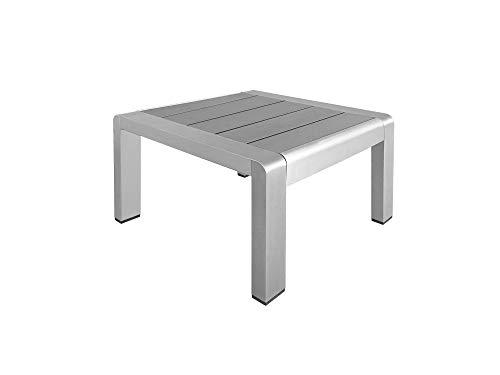 RS Trade RS Trade Alu Beistelltisch Hocker Tisch Polyrattan Rattan Liege Sonnenliege Gartenmöbel