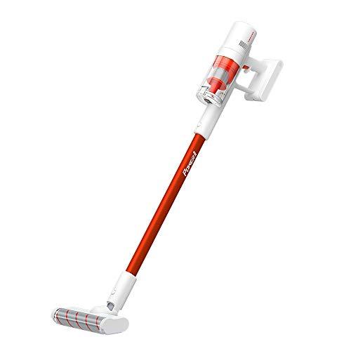 TROUVER Power 11 Akku-Staubsauger beutellos Blanco/Rojo Turbobürste 2.500mAh-batería Recargable