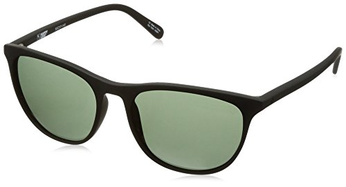 Spy Optic Cameo Wrap Sunglasses, Soft Matte Black/Happy Gray/Green, 1.5 mm