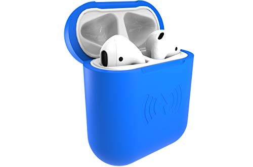 East Brooklyn Labs SliQ Qi Wireless Charging Case and Protective Sleeve Compatible with Apple Airpod Earphones, Case Only Does Not Include Airpods (Blue)