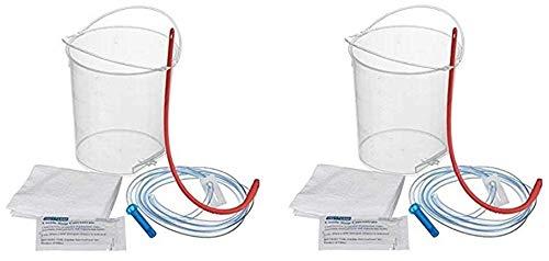 BPA Free Enema Bucket with Reinforced Handles - No Leakage Pack of 2