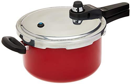 NIGRO Eterna 097175 Panela Pressão Fechamento Externo, Vermelho, 4,5 Litros