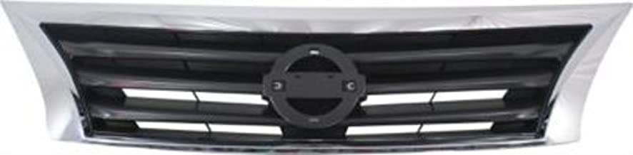 CPP Chrome Shell w/Gray Insert Grille Assembly for 2013-2015 Nissan Altima