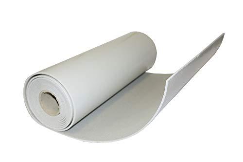 TROCELLEN Fascia isolante termoacustica autoadesiva per coibentazione di cassonetti tapparelle, antivibrante, insonorizzante, altezza 36cm, lunghezza 6m, spessore 3mm, colore grigio chiaro