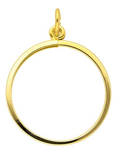 Gold Münzfassung 14 k 585 Gelbgold 30 Ø mm