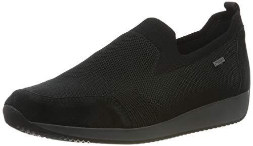 ARA womens Slip-on Sneaker, Black, 8.5 US