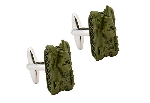 Knighthood Green Army Tank Cufflink for Men Green