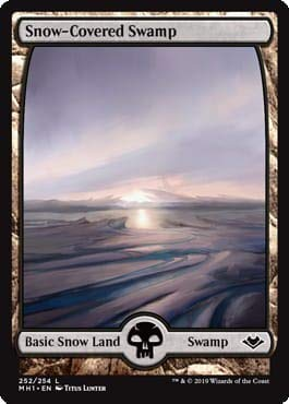 Magic: The Gathering - Snow-Covered Swamp - Foil - Modern Horizons