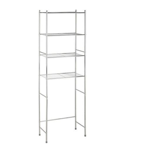 """Honey-Can-Do 4-Tier Space Saver Shelf, Chrome, 24.02"""" L x 11.02"""" W x 67.72"""" H"""
