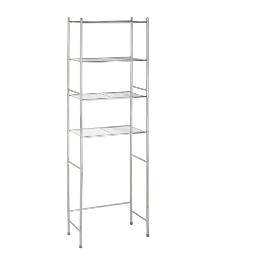 HoneyCanDo 4Tier Space Saver Shelf Chrome 2402quot L x 1102quot W x 6772quot H