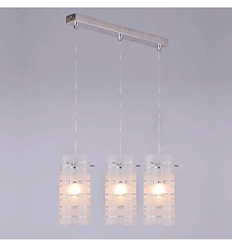 KOSILUM - Suspension triple verre design cylindre - Tiger - Lumière Blanc Chaud Eclairage Salon Chambre Cuisine Couloir - 3 x 60W - - E27 - IP20