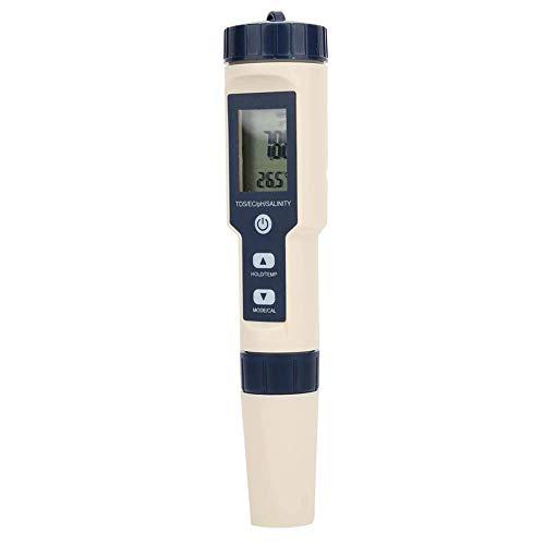 WMY Hocheffizienter pH/Salzgehalt/Temperatur/TDS/EC 5 in 1 Farm Aquarium Pen Temperatur für den Innen- und Außenbereich
