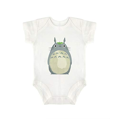 NOT Triangular Baby Jumpsuit Cute Totoro White 12months Cute super Soft Cotton Protects Baby's Body