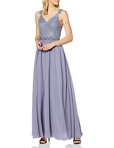 Laona Damen Evening Dress LA42009L Partykleid, Violett (Soft Lilac 9045), 36 (Herstellergröße: S)