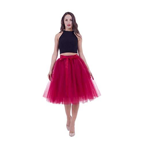 CANDLLY Faldas de Fiesta Mujeres Elegante Tutu Faldas de Botas Faldas...