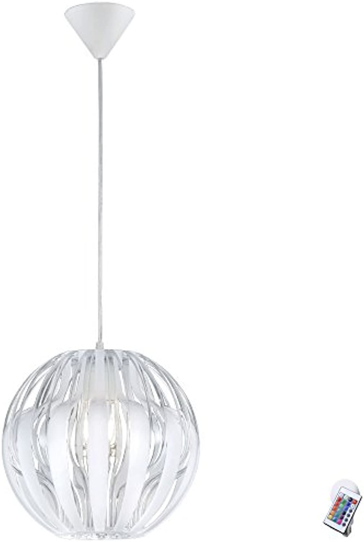 Decken Pendel Lampe Arbeitszimmer Hnge Leuchte Kugel Strahler im Set inklusive RGB LED Leuchtmittel