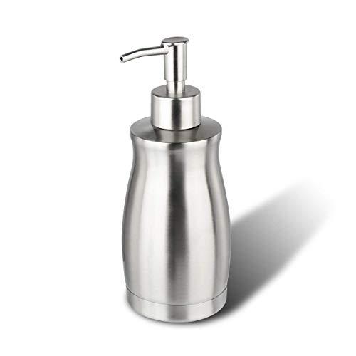 Dispenser Sapone ARKTEK - Acciaio Inossidabile Dispenser liquidi Robusto e impermeabile per Bagno e Cucina 400 ml (Riutilizzabile)