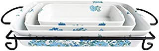 Darbie's 4 Piece Rose Baking and Serving Set - Periwinkle