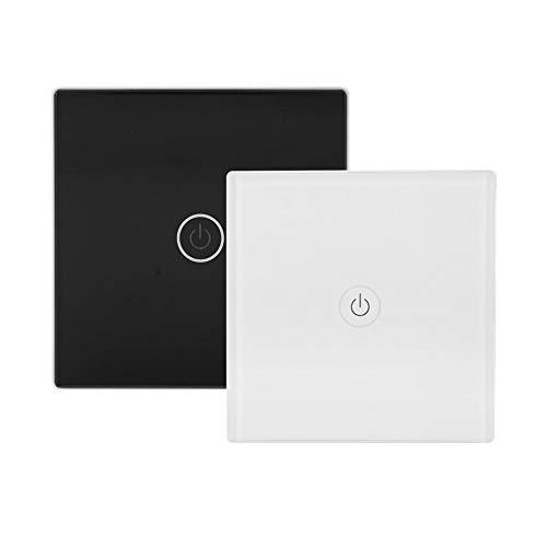 interruttore luce touch, Interruttore wireless touch per la luce, interruttore da parete intelligente, 12 V, 1 via, pannello con ricevitore per Smart Home, 1.00V