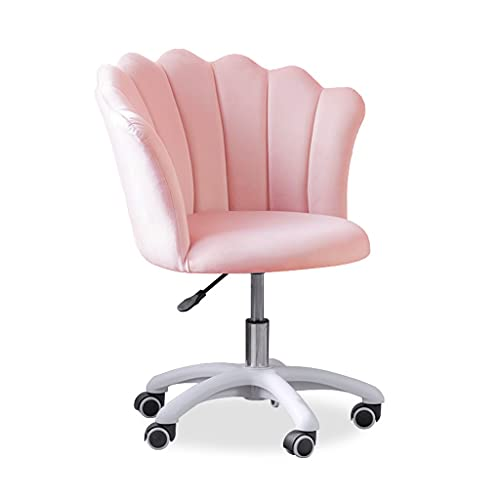 zdz Silla ergonómica de Oficina con Soporte de polea, Silla de Escritorio Ajustable de Malla con Respaldo con reposabrazos, para Oficina, Dormitorio, hogar (Color : Pink)