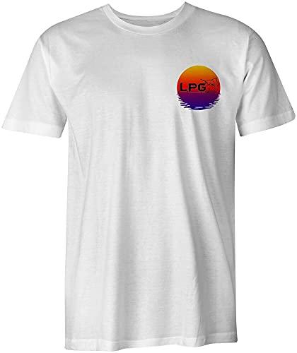 LPG Apparel Co. Tropical Oahu Hawaii Sailfish Fishing Surf White T-Shirt tee White XL