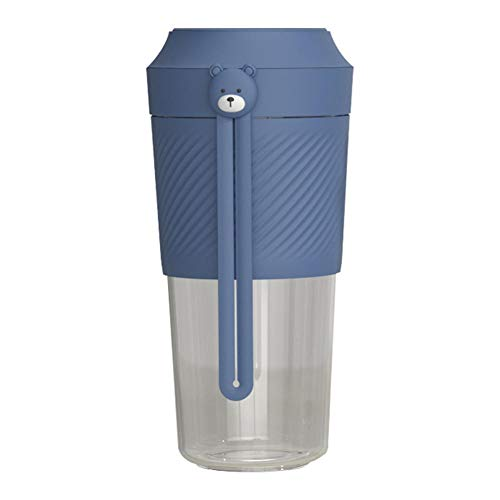 HXIYANG Licuadora personal , licuadoras portátiles, licuadora eléctrica de frutas, licuadora USB, recargable azul