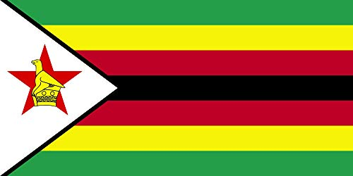 magFlags Flagge: Large Zimbabwe 2004 CIA WFB | English The Flag of Zimbabwe as it Appears on CIA World Fact Book | Querformat Fahne | 1.35m² | 80x160cm » Fahne 100% Made in Germany