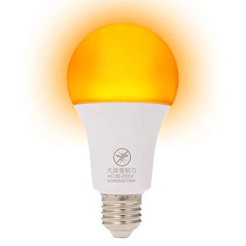 Galapara Bombillas LED, Bombilla Mosquitos E26 / 27 12W Bombilla Repelente de Mosquitos No UV Luz de Noche para Uso en Interiores al Aire Libre Larga Vida útil Ahorro de energía