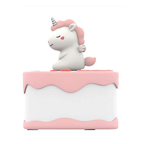Night Light, LED Touch Night Light, Bedside Table Lamp for Kids, Unicorn Night Light Creative Charging Timing Cartoon Cake Night Light